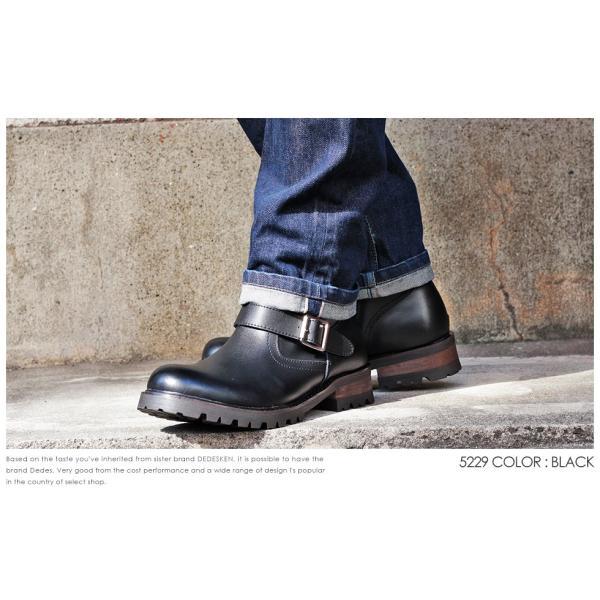 エンジニアブーツ 本革 スウェード レザー サイドジップ ダブルベルト 滑りにくい 防滑 タンクソール  メンズ 靴 シューズ カジュアル|mens-sanei|05
