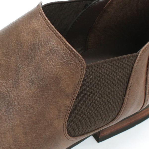 サイドゴアブーツ ショートブーツ レザー シューズ カジュアル 革靴 紳士 メンズ 短靴 対象商品2足の購入で6000円(税別)|mens-sanei|04