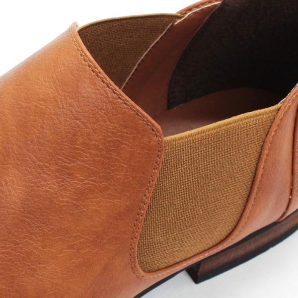サイドゴアブーツ ショートブーツ レザー シューズ カジュアル 革靴 紳士 メンズ 短靴 対象商品2足の購入で6000円(税別)|mens-sanei|05