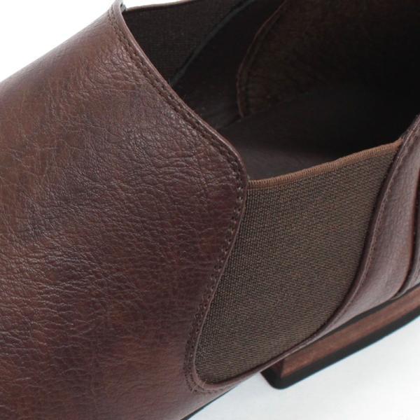 サイドゴアブーツ ショートブーツ レザー シューズ カジュアル 革靴 紳士 メンズ 短靴 対象商品2足の購入で6000円(税別)|mens-sanei|06