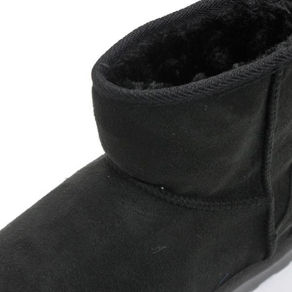 ムートンブーツ ショートブーツ ムートン メンズ 靴 冬 ボア ファー カジュアル シューズ スウェード 対象商品2足の購入で3600円(税別)|mens-sanei|03