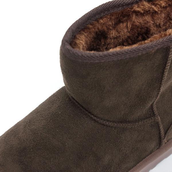 ムートンブーツ ショートブーツ ムートン メンズ 靴 冬 ボア ファー カジュアル シューズ スウェード 対象商品2足の購入で3600円(税別)|mens-sanei|07