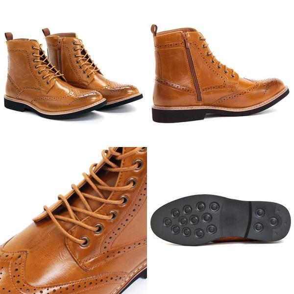 ブーツ ウィングチップ ダイナイトソール カントリーブーツ メンズ 靴 シューズ カジュアル 対象商品2足の購入で9000円(税別) mens-sanei 03