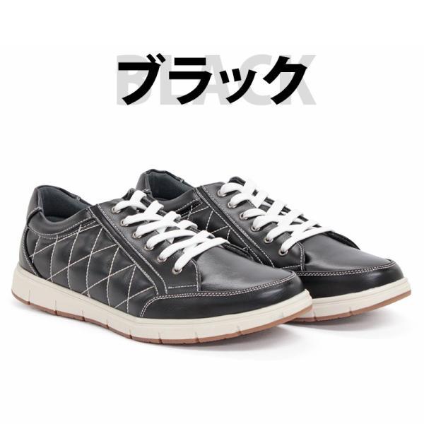 スニーカー ローカット キルティング メンズ 靴 シューズ カジュアル|mens-sanei|03