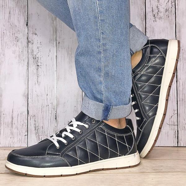 スニーカー ローカット キルティング メンズ 靴 シューズ カジュアル|mens-sanei|08