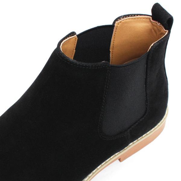 サイドゴアブーツ ドレスシューズ スェード カジュアル メンズ 紳士靴 革 レザー 対象商品2足の購入で6000円(税別)|mens-sanei|04