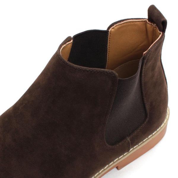 サイドゴアブーツ ドレスシューズ スェード カジュアル メンズ 紳士靴 革 レザー 対象商品2足の購入で6000円(税別)|mens-sanei|06