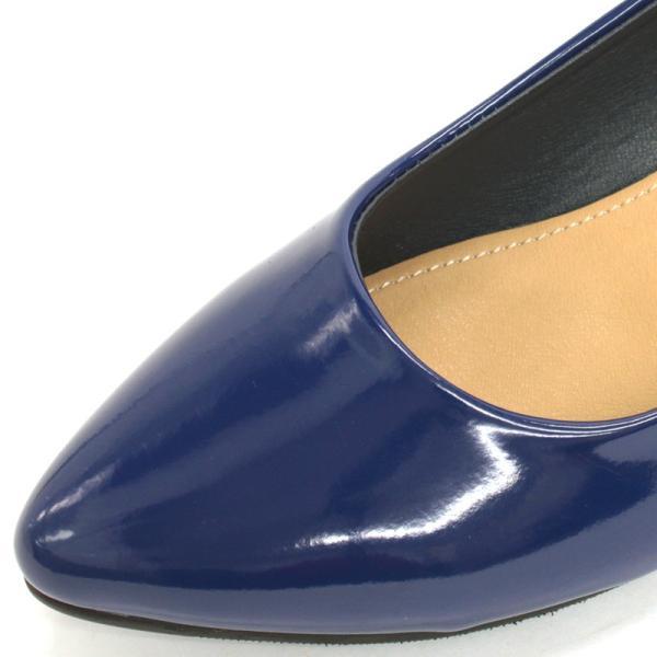 3.5cm チャンキー ヒール パンプス 全9色 ポインテッドトゥ スムース エナメル パイソン シルバー レディース 婦人 靴 HEEL PUMPS 2足4000円(税抜)セット対象|mens-sanei|11