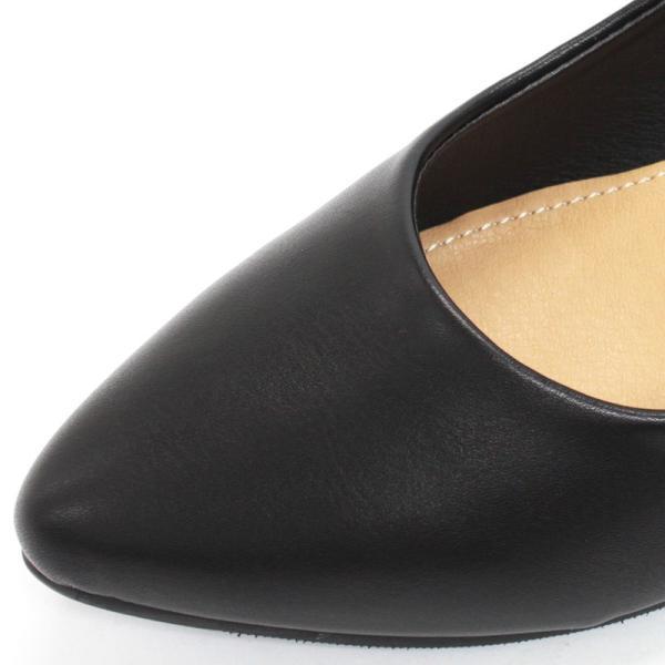 3.5cm チャンキー ヒール パンプス 全9色 ポインテッドトゥ スムース エナメル パイソン シルバー レディース 婦人 靴 HEEL PUMPS 2足4000円(税抜)セット対象|mens-sanei|03