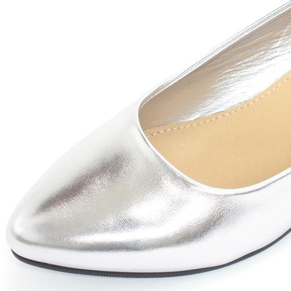 3.5cm チャンキー ヒール パンプス 全9色 ポインテッドトゥ スムース エナメル パイソン シルバー レディース 婦人 靴 HEEL PUMPS 2足4000円(税抜)セット対象|mens-sanei|06