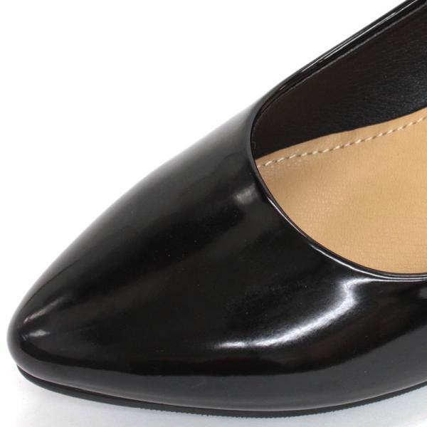3.5cm チャンキー ヒール パンプス 全9色 ポインテッドトゥ スムース エナメル パイソン シルバー レディース 婦人 靴 HEEL PUMPS 2足4000円(税抜)セット対象|mens-sanei|07