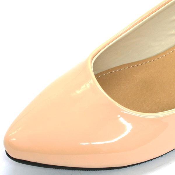 3.5cm チャンキー ヒール パンプス 全9色 ポインテッドトゥ スムース エナメル パイソン シルバー レディース 婦人 靴 HEEL PUMPS 2足4000円(税抜)セット対象|mens-sanei|08