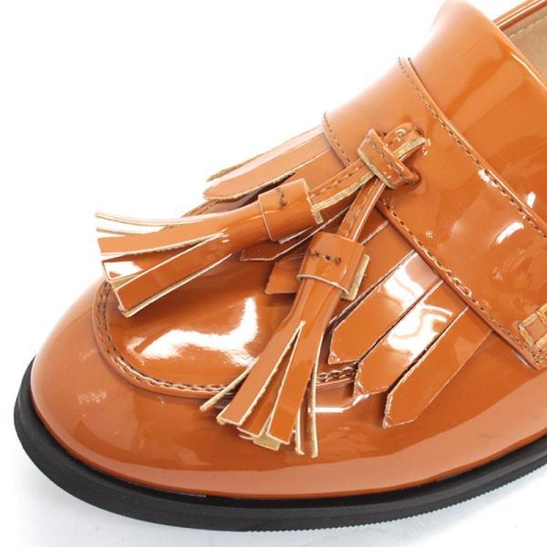 タッセル ローファー レディース シンプル トラッド プレッピー スムース 全4色 5477 婦人 靴 シュ ーズ 対象品2足で4000円 リバティドール