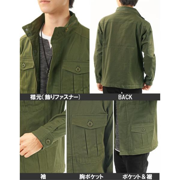 ミリタリージャケット メンズ ブルゾン M-65 M65ジャケット ストレッチ素材 無地 フライトジャケット アウター ジャンパー menscasual 14