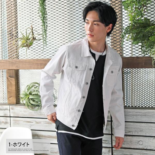 Gジャン メンズ ジージャン ミリタリージャケット ショート タイト デニムジャケット ブルゾン メンズファッション|menscasual|03