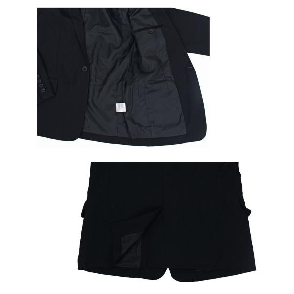 テーラードジャケット メンズ テーラードジャケット 2Bボタン 1B ブレザー 長袖 無地 ブラック 黒 グレー|menscasual|09