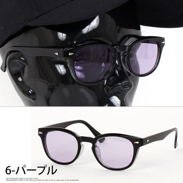 サングラス メンズ カラーレンズ 伊達メガネ 眼鏡 メガネ 伊達めがね 黒ぶち眼鏡 UVカット ウェリントン スモーク ライトカラー おしゃれ 人気 ブルー ブラック menscasual 11