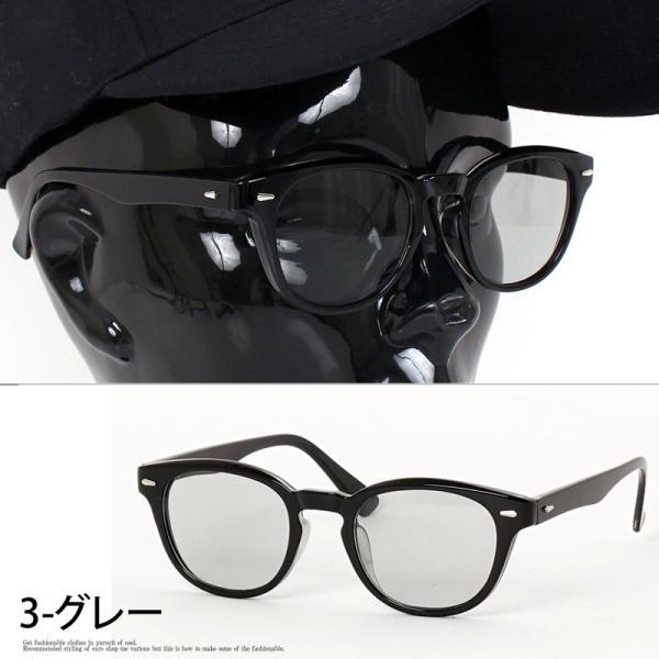 サングラス メンズ カラーレンズ 伊達メガネ 眼鏡 メガネ 伊達めがね 黒ぶち眼鏡 UVカット ウェリントン スモーク ライトカラー おしゃれ 人気 ブルー ブラック menscasual 08