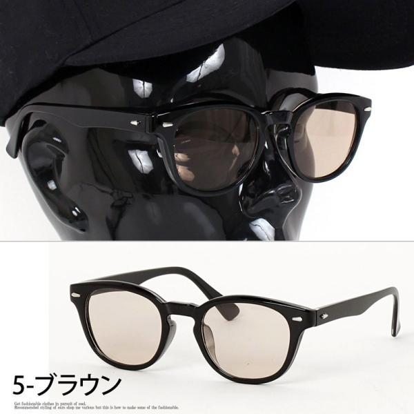 サングラス メンズ カラーレンズ 伊達メガネ 眼鏡 メガネ 伊達めがね 黒ぶち眼鏡 UVカット ウェリントン スモーク ライトカラー おしゃれ 人気 ブルー ブラック menscasual 10