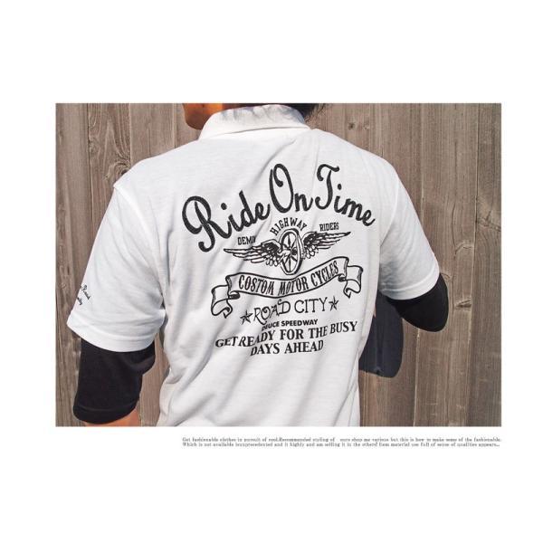 ポロシャツ メンズ 半袖ポロシャツ 鹿の子ポロシャツ 無地 刺繍 2点セット ビズポロ レイヤード menscasual 04