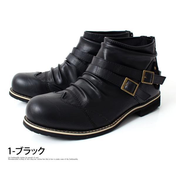 ブーツ メンズ メンズブーツ エンジニアブーツ ショートブーツ ワークブーツ ファスナー バックジップ 靴 シューズ 秋冬|menscasual|11