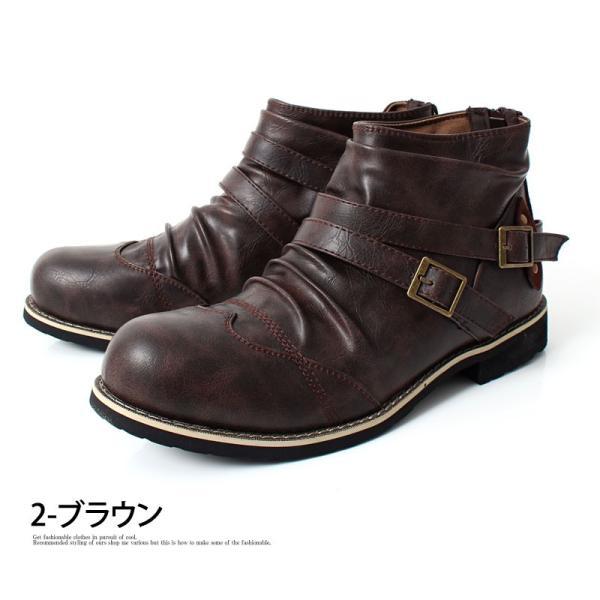 ブーツ メンズ メンズブーツ エンジニアブーツ ショートブーツ ワークブーツ ファスナー バックジップ 靴 シューズ 秋冬|menscasual|12
