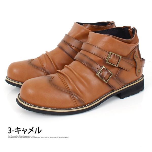 ブーツ メンズ メンズブーツ エンジニアブーツ ショートブーツ ワークブーツ ファスナー バックジップ 靴 シューズ 秋冬|menscasual|13