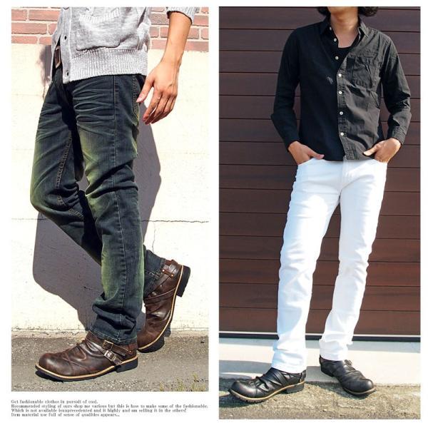 ブーツ メンズ メンズブーツ エンジニアブーツ ショートブーツ ワークブーツ ファスナー バックジップ 靴 シューズ 秋冬|menscasual|07