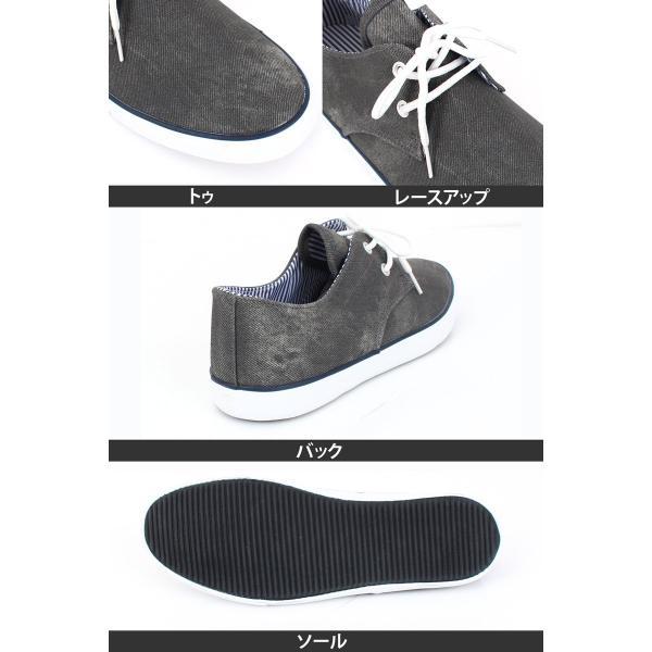 スニーカー メンズ デッキシューズ カジュアルシューズ 靴 レースアップ ローカット ミッドカット ミドルカット 春夏|menscasual|08