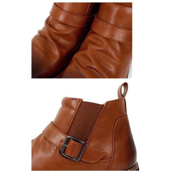 ブーツ メンズ サイドゴアブーツ ショートブーツ フェイクスウェード フェイクレザー 靴|menscasual|04