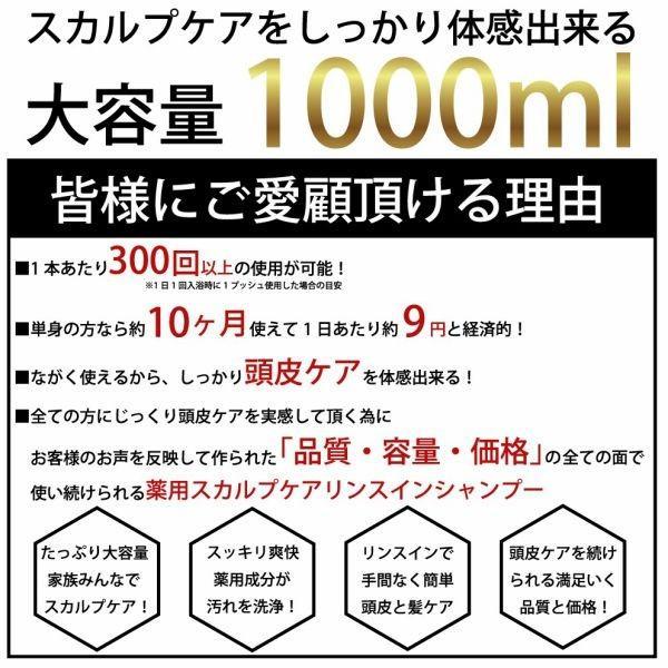 スカルプ シャンプー メンズ  大容量 1000ml DiNOMEN 薬用 スカルプ ケア リンスイン シャンプー ノンシリコン シャンプー  ギフト  公式|menscosme|06