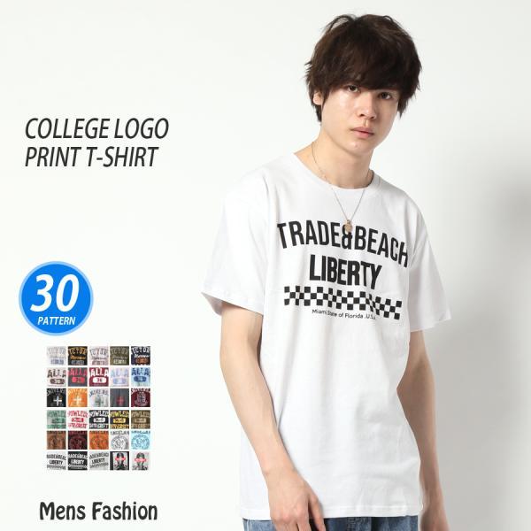 Tシャツメンズ半袖プリントTカレッジロゴアメカジセール流行アクセサリーメンズレディースファッション