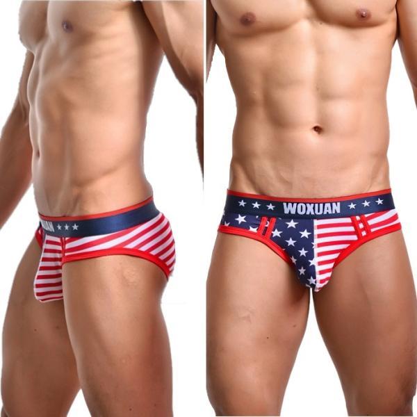 ブリーフ メンズビキニ WOXUAN ウォーシャン USA アメリカ国旗  ビキニブリーフ(wobfamrc)|mensrunway|02