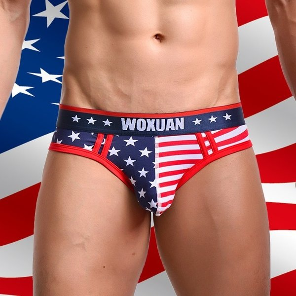 ブリーフ メンズビキニ WOXUAN ウォーシャン USA アメリカ国旗  ビキニブリーフ(wobfamrc)|mensrunway|05