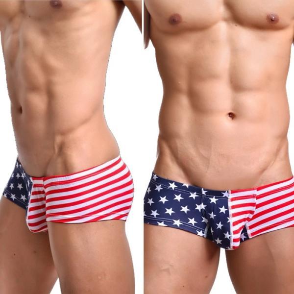 ボクサーパンツ メンズ ブランド WOXUAN ウォーシャン USA アメリカ国旗  ローライズボクサー(wobxamrc)|mensrunway|02