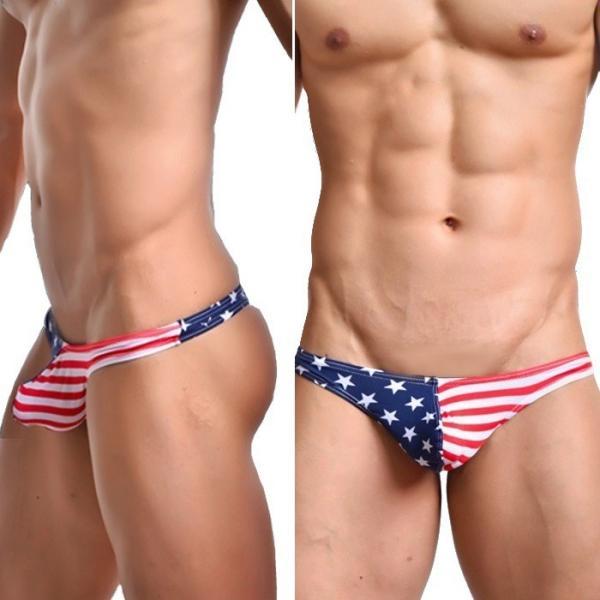 Tバック メンズ WOXUAN ウォーシャン USA アメリカ国旗  ローライズ Tバック超セクシー肌触り抜群(wotbamrc)|mensrunway|02
