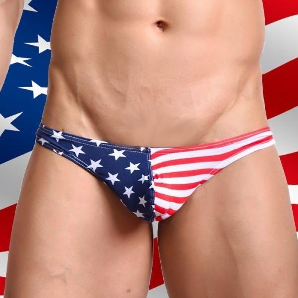 Tバック メンズ WOXUAN ウォーシャン USA アメリカ国旗  ローライズ Tバック超セクシー肌触り抜群(wotbamrc)|mensrunway|05