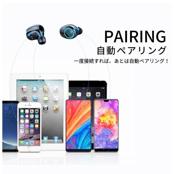 bluetooth イヤホン ワイヤレスイヤホン 両耳 防水 スポーツ ランニング iPhone 7 8 X XS android 高音質 充電ケース