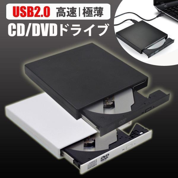 dvdドライブ外付けUSB2.0外付けポータブルCD-RWDVD-RドライブディスクWindows/MacOS対応外付けWind