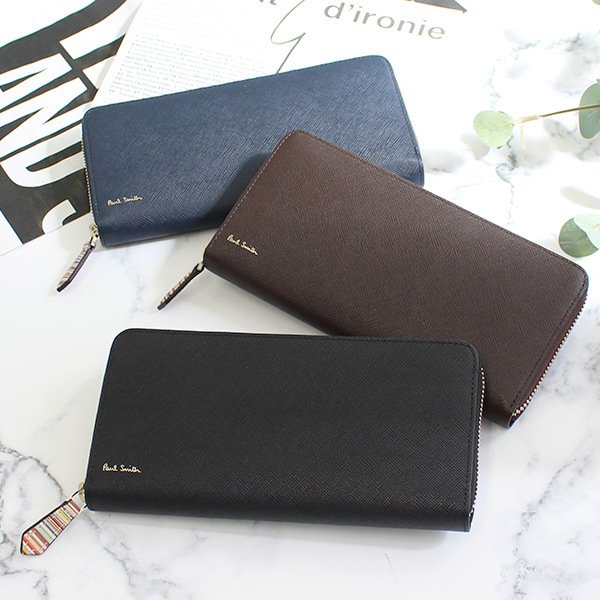 ポールスミス 財布 ラウンド 長財布 メンズ ジップストローグレイン 873219 P785|menstyle