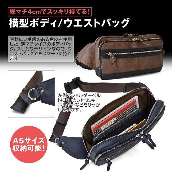 ボディバッグ TRICKSTER スリムボディバッグ ウエストバッグ メンズ 男性用 通勤 通学 旅行 BAG 鞄 かばん 母の日 プレゼント ギフト