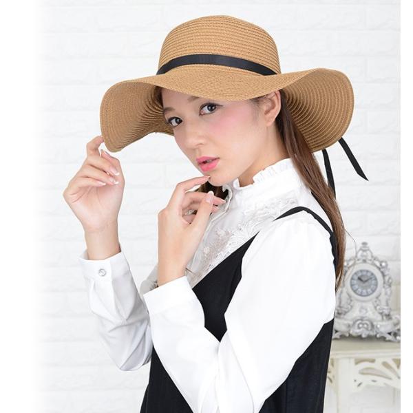 女優さん御用達 麦わら帽子 ストローハット 選べる 折りたたみ 可 紫外線 防止 UVカット レディース|mercalifassion|04