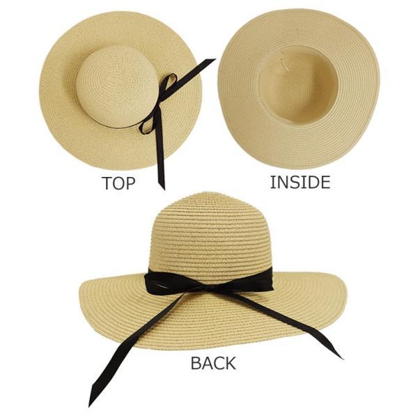 女優さん御用達 麦わら帽子 ストローハット 選べる 折りたたみ 可 紫外線 防止 UVカット レディース mercalifassion 10