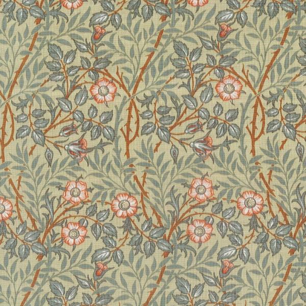 moda fabrics(モダ・ファブリックス)William Morris ウィリアムモリス シーチング生地<SWEET BRIAR 1912>(スイート・ブライアー)SAGEセージ 33494-13