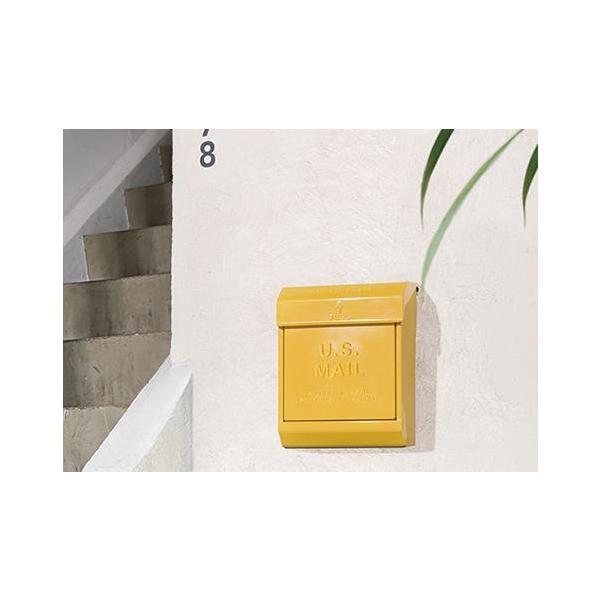 旗あり ポスト 郵便受け エンボスあり アートワークスタジオ  U.S. Mail box 2 ユーエスメールボックス2