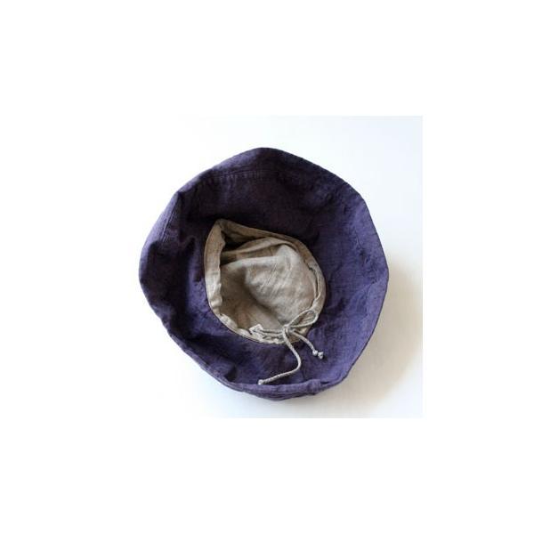 リーノエリーナ Lino e Lina  ハット マノン・レザン 内側ひも付き リネンハット 帽子 ナチュラ W08