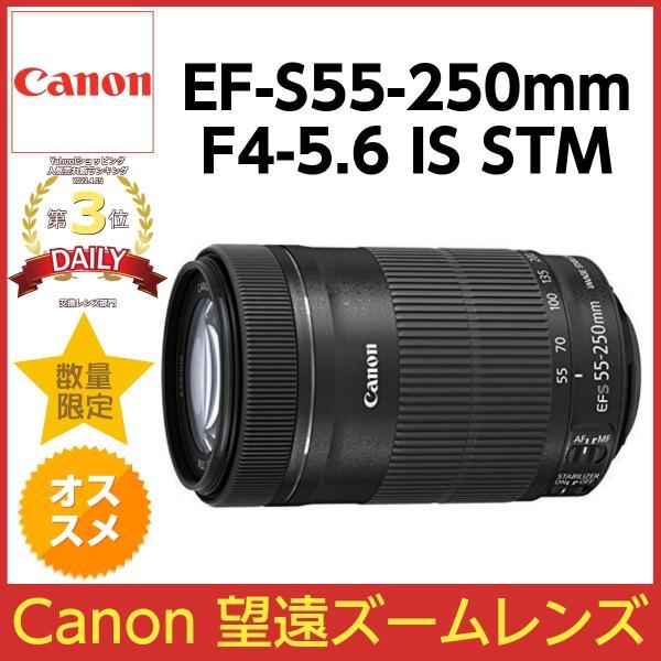 【新品/在庫あり】 即発送 最安値保証 キヤノン Canon EF-S55-250mm F4-5.6 IS STM ズームレンズ(白箱)H1909075
