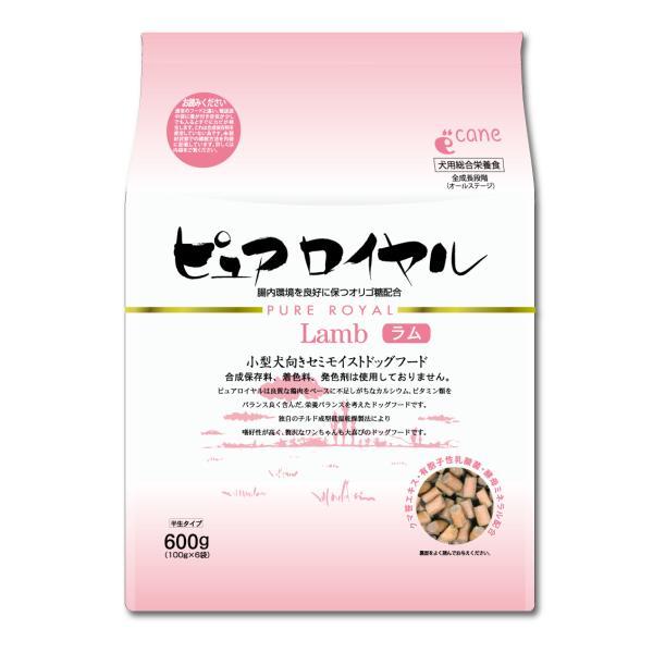 ピュアロイヤル ラム 600g 食いつき抜群 よく食べる セミモイスト 柔らかい 美味しい 良質 国産 ジャーキー 総合栄養食