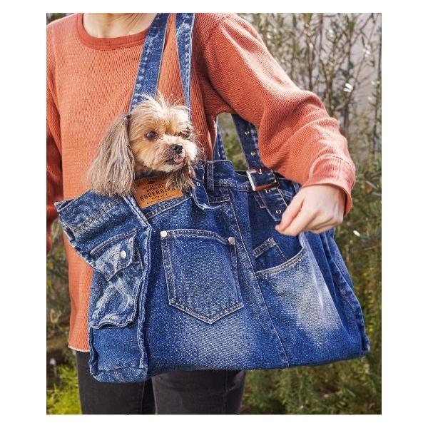 Solgra デニムトートバッグ 犬 キャリーバック 軽い 折りたためる 犬用 小さい 小型犬 軽量 おしゃれ ペット おすすめ ソフト 布製 布