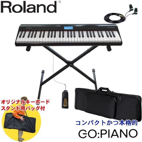 ケース付 Roland GO PIANO (キーボードスタンド/イヤフォンセット)ローランド ゴー ピアノ